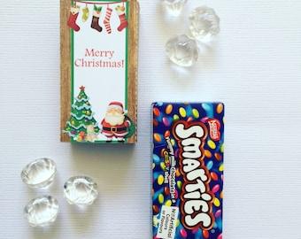 Christmas smarties box cover