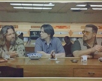 "The Big Lebowski GIGANTIC 44"" x 24"",Poster Print  ""Sometimes the bar eats you"" Dude Bar Bowling Alley Man Cave"