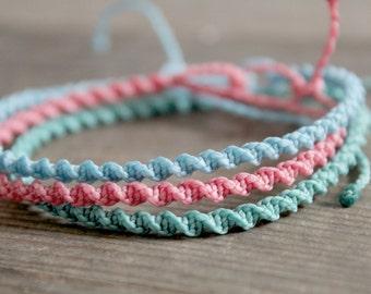 Twisted Style Bohemian Bracelet, Beachy Boho indie Bracelet, Beautiful Macrame Twisted Bracelet, Summer Festival Jewellery, Indie Jewellery