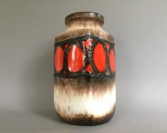 Scheurich 216 - 20 vintage Mid Century Modern ceramic Fat Lava vase   from the   1970s West Germany Pottery WGP.