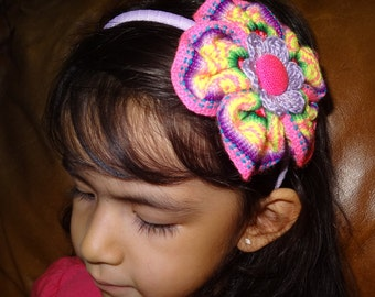 Peruvian Headband. Hair clip, Aligator clip, Elastic Headband and Plastic Headband. For babies and girls.
