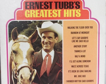 Ernest Tubb's Greatest Hits, Vintage Record Album, Vinyl LP, Country Western Singer, Country Music, Hall of Fame, Texas Troubadour