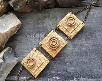 Leather bracelet. Gold leather braceet. Beige bracelet. Boho bracelet. Bohemian bracelet. Leather jewelry. Boho jewelry. Tribal bracelet.
