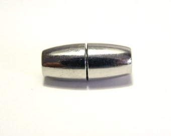 2 pc. Oval Magnetic Brass Clasp 16 mm - Platinum