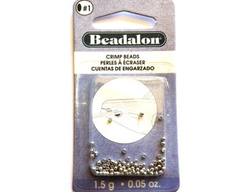 1.5 g Beadalon Silver Plated Crimp Beads 2mm - Size 1
