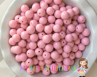 16mm Pale Pink Chunky Bubble Gum Bead Solids *Choose How Many
