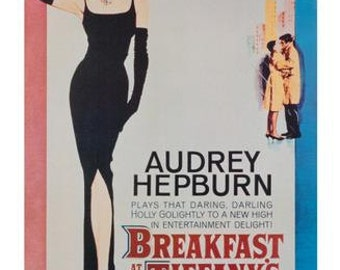 Vintage Reproduction Breakfast At Tiffany's Audrey Hepburn Movie Poster 24 x 36