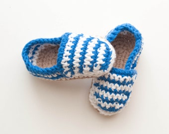 Summer crochet espadrillas for newborn, pregnancy announce or baby shower gift, baby summer and bicolor shoes