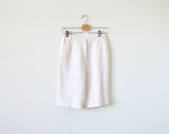 90s vintage shorts / stripe short / bermuda shorts