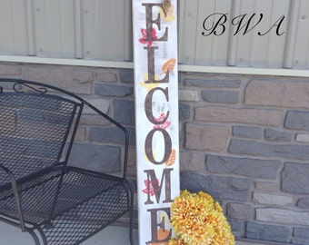Primitive Fall Decor Welcome Porch Sign Fall By
