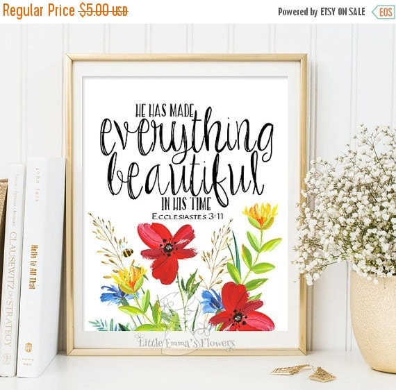 Religious Home Decor Housewarming Gift Quote By