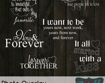INSTANT Download Engagement Collection... 6 Quote Overlays