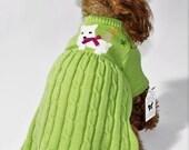 Dog SWEATER XS Upcycled Dress Puppy
