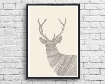 Art-Poster - Stag Illustration