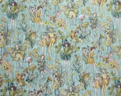 """Sunshine  Fairies Fabric - Cicely Mary Barker 2008 - Michael Miller 3880 - 100% Cotton - 20"""" x 44"""""""
