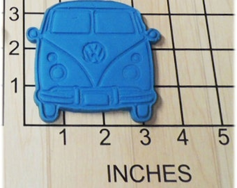 Volkswagen Bus VW Bus Van shape Cookie Cutter and Stamp 1149
