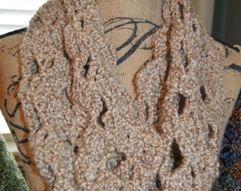 Spring Infinity Crocheted Scarf  - Choose Color