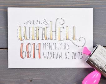 Creative Hand Lettered Envelope Addressing Services, Snail Mail, Custom Lettering, Envelope Design, Hand Lettering