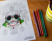 Floral Sugar Skull Colour...