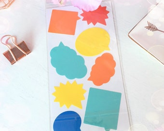 Pack of Speech Bubble Stickers...