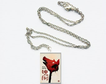 Lord of the Flies mini book necklace