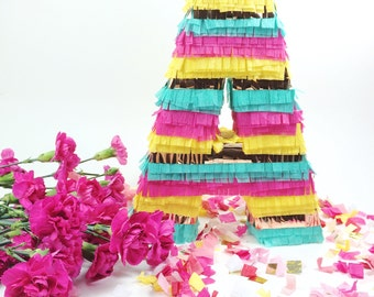 "Pinata Letter,10"" Fringe Letters, Cinco de Mayo, Weddings, Fiesta Birthday, Baby Shower, Piñata Letter Mexican Decoration"