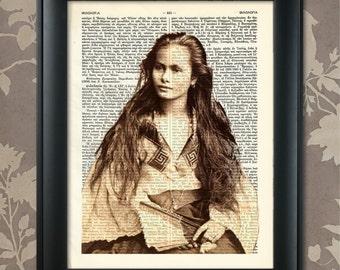 Native American, Lakota Beauty, American Indian Art, Vintage Indian Photo, Indian Print, Lakota Nation, Old West Print