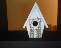 Wooden Hand-Painted Small Birdhouse
