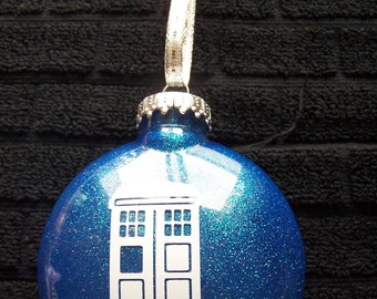 Dr. Who Tardis Christmas Ornament
