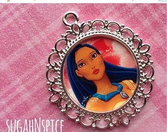 Back to School Sale Pocahontas Pendant - Disney Princess Pendant - Pocahontas Charm - Pocahontas Necklace Pendant - Princess Charm - Pocahon