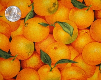 Orange Oranges Citrus Grove JoAnn Cotton Quilting Fabric BTY by the yard