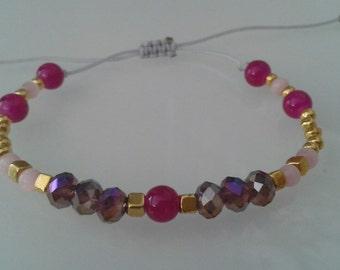 Bracelet #2 Gray Nylon cord 1mm