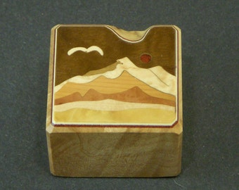 Paper weight office Paperweight Wood Inlay Handmade in USA