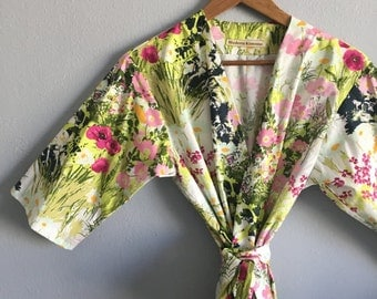 Bridesmaids Robes. Bridesmaid Robe. Kimono Robe. Bridesmaids Gift. Bridal Robe. Wedding Lingerie. Bridal Robe. Wedding Gift.
