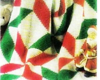 CROCHET CHRISTMAS PATTERN Crochet Poinsettia Blanket Pattern Crochet Christmas Afghan Pattern Crochet Motif Blanket Pattern