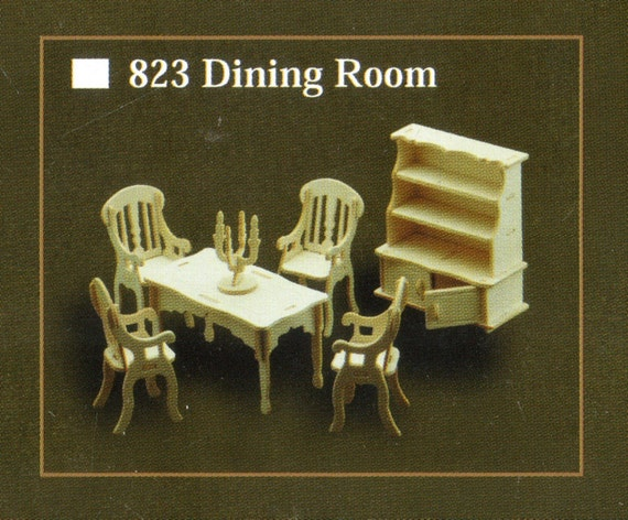 Dining Room Model Furniture Kit In 12th Scale For Dolls House