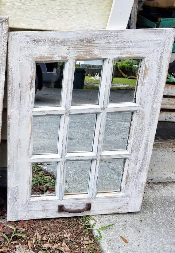 Sale Rustic Farmhouse Window Mirror Window Pane Mirror