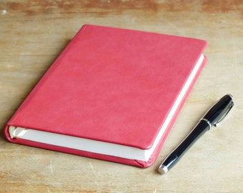 Handmade paper notebook, journal, leather hard cover