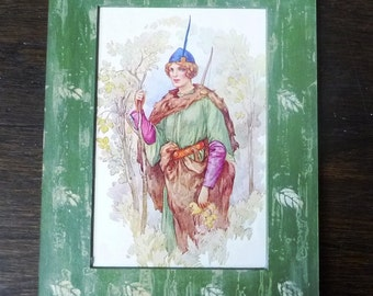 Original 1907 Harry G. Theaker Book Illustration 'Maid Marian, Forest Wife' from 'Robin Hood and His Merry Men- E. Charles Vivian