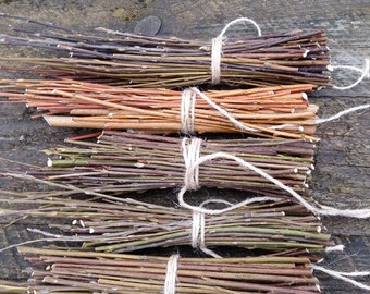 sacred tree willow branches wood sticks bundle of tree twigs natural willow rustic home decor primitive decoration country cottage style