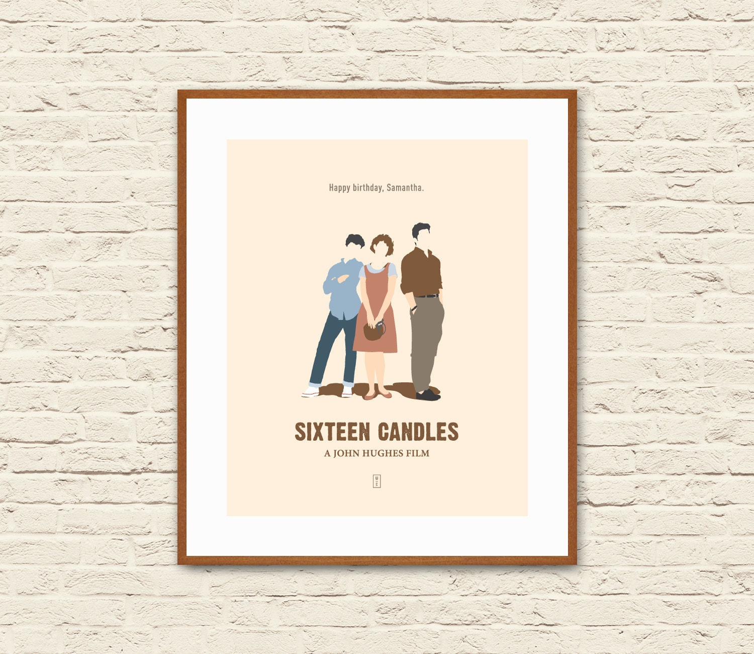breakfast club sixteen candles mini st poster john hughes movies molly ringwald anthony michael hall alternative poster ferris pretty in pink