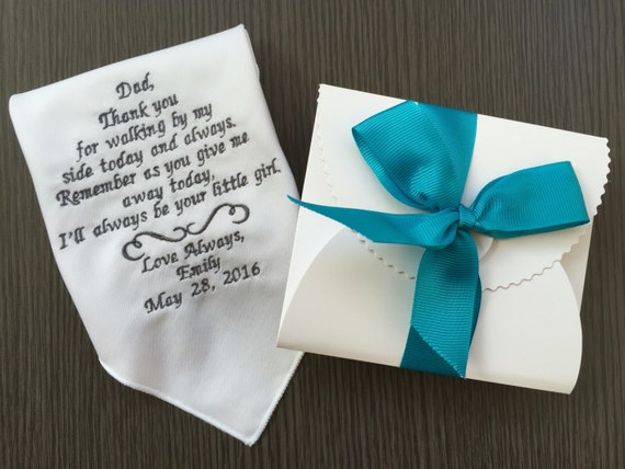 Wedding Gifts For Parents Handkerchief : Wedding Gift For Parents-Father Handkerchief-Customized -Embroidery ...