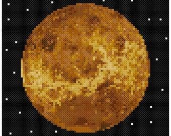 PDF Cross Stitch pattern - 0058.Venus planet - INSTANT DOWNLOAD