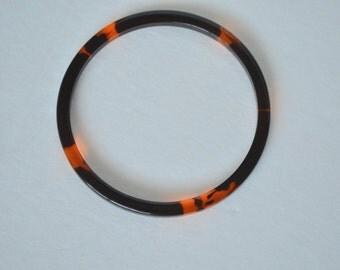 Vintage Black Brown Root beer Amber Translucent Lucite Bracelets Bangles