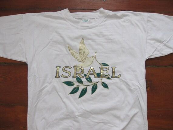 Vintage israel country t shirt shirt adult medium for Adult medium t shirt