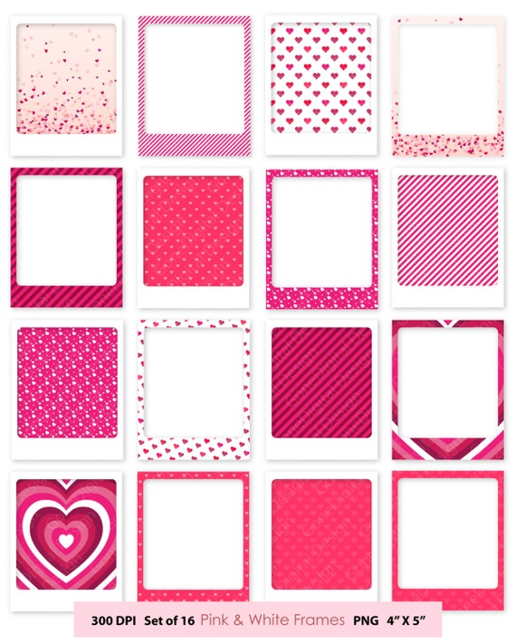 Digital Frame Clipart Frames Pink Frame Clip Art Commercial Use Digital  Scrapbook Frames Valentine Frame Valentine Clipart Picture Frame From  GoneDigital On ...
