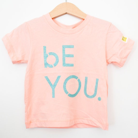 Infant peach cotton crew // American Apparel brand // bE YOU.