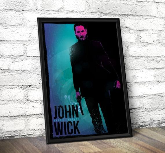 John Wick Minimalist Poster - John Wick Inspired Minimalist Poster - Movie Wall Art