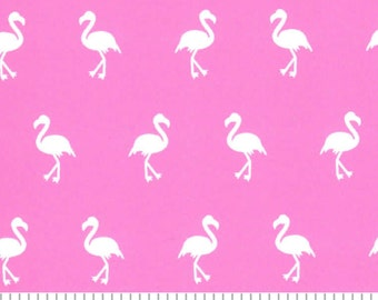 pink flamingo print fabric by Fabric Finders, Beach Summer fabric by the yard for quilting sewing apparel fabric 54/60 wide fabric
