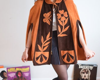 60's Suede Poncho